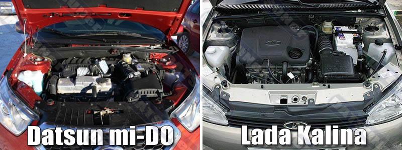 Сравнение двигателей Датсун ми-ДО и Лада Калина
