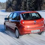 Datsun mi-DO на снежной дороге