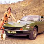 Nissan Datsun 240z (Fairlady s30) и девушка