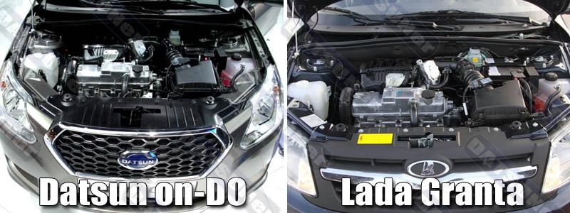Сравнение двигателей Датсун он-ДО и Лада Гранта